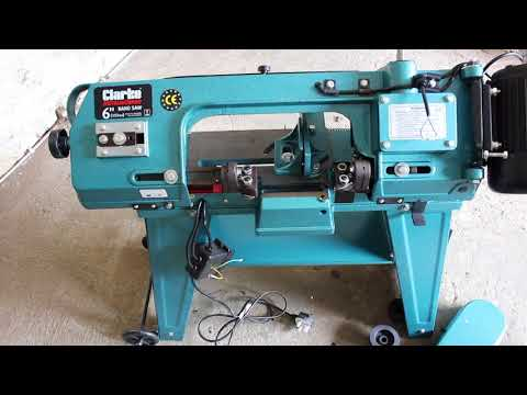 "Clarke 6"" Metal Cutting Bandsaw Assembly and Test"