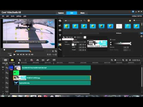 Corel Video Studio Ders 1 : Color Key - Logo Ekleme -Video içi Logo Gömme