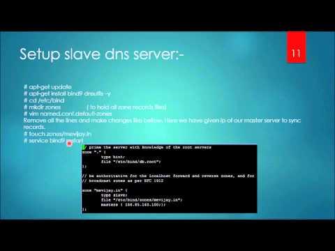 Dns server setup on ubuntu vps (master+slave)