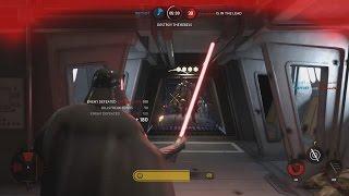 Star Wars Battlefront HERO HUNT Gameplay (20 Kill Streak w/ Darth Vader Hero Hunt)