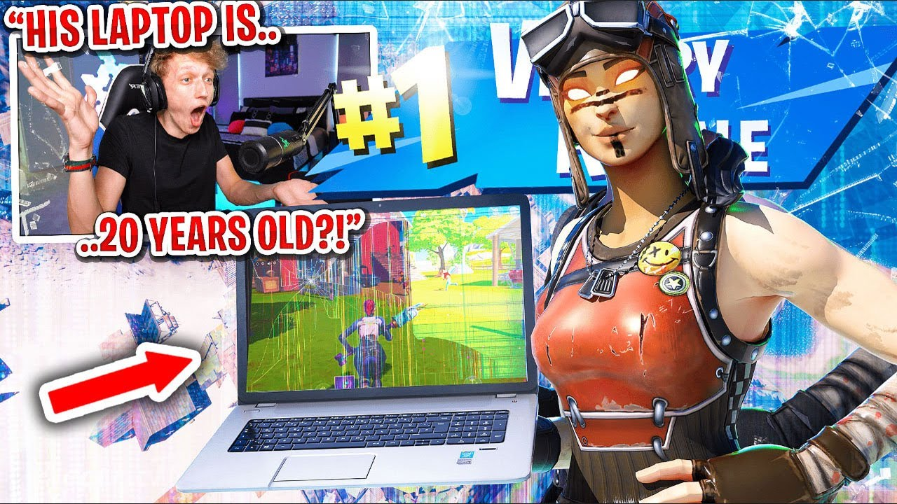 This kid won my scrim on a 20 YEAR OLD LAPTOP in Fortnite... (most SHOCKING ending)