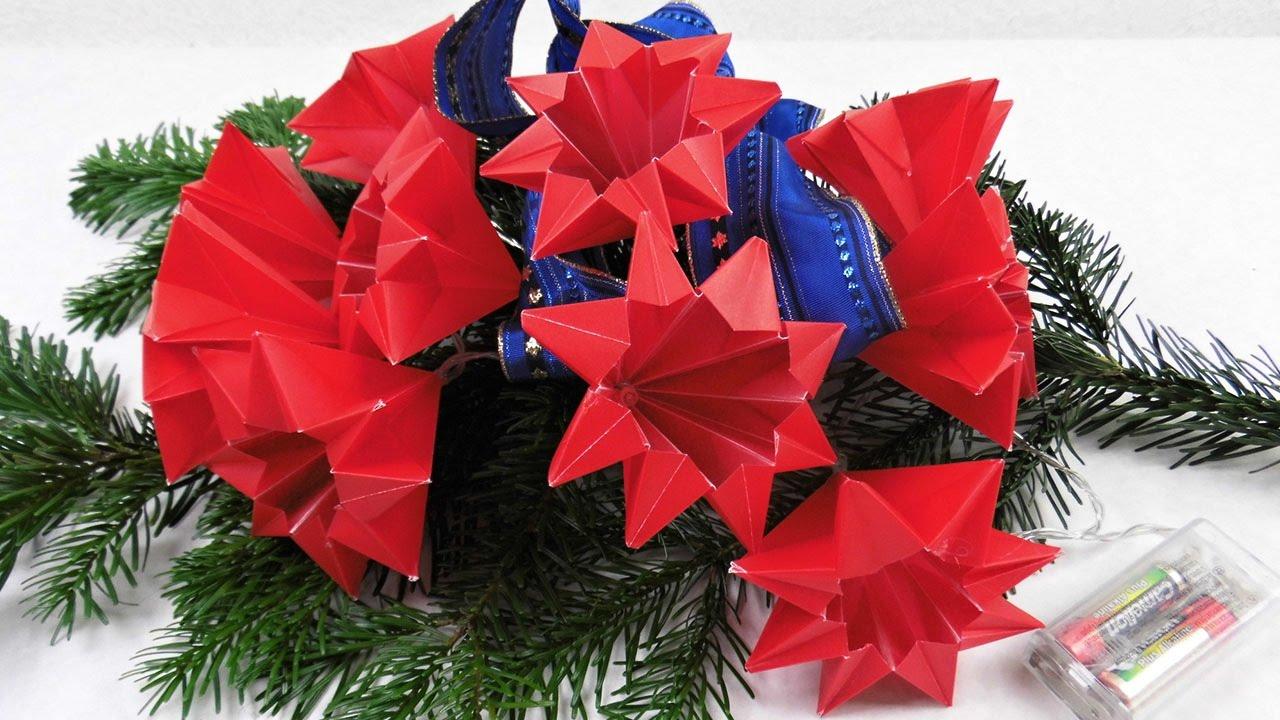 Sterne Für Eine LED Lichterkette Basteln ❁ Deko Ideen Mit Flora Shop    YouTube