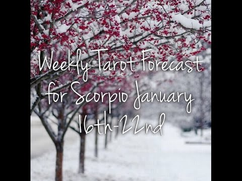 Weekly Tarot Forecast for Scorpio January 16th-22nd