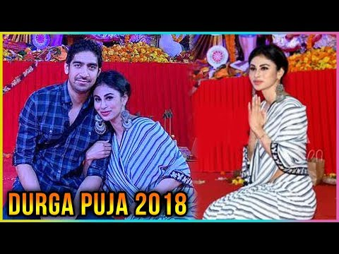 Mouni Roy Attends Durga Puja With Bollywood Director Ayan Mukherji