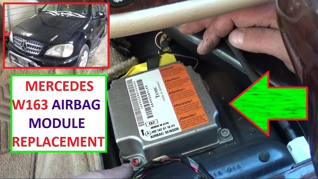 airbag module removal replacement and location mercedes w163 ml230 ml270 ml320 ml350 ml430 ml400 2001 Kia Sportage Fuse Box Diagram 2012 Kia Sportage Fuse Box Diagram
