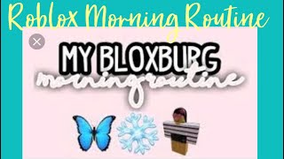 MORNING ROUTINE | Roblox | Ny