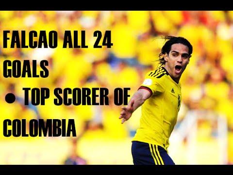 RADAMEL FALCAO GARCIA  ● Top Scorer of Colombia ● All 24 goals