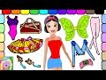 Dress Up Snow White Barbie As A Ballerina And Learn Names Of Colors And Clothes