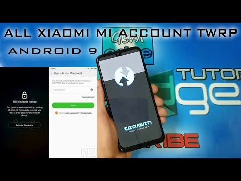 PERMANENTLY MICLOUD ENDING MI ACCOUNT ANDROID 9 MIUI10/11 TWRP METHOD