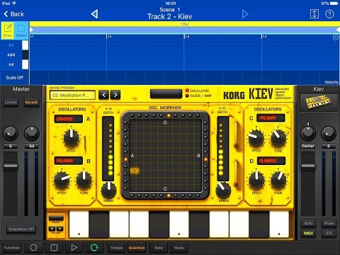 KORG Gadget KIEV New Sounds Demo for the iPad
