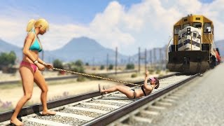 Repeat youtube video BRUTAL LASSO MOD! (GTA 5 Funny Moments)