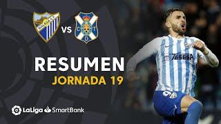 Resumen de Málaga CF vs CD Tenerife (2-0)