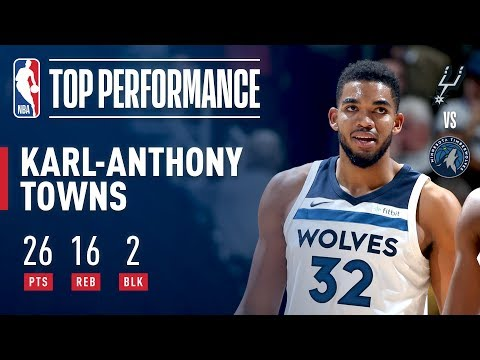 Karl-Anthony Towns Tallies 26 and 16 on His 22nd Birthday | November 15, 2017