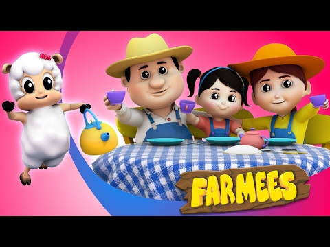 Polly Put The Kettle On | Nursery Rhymes Farmees | Baby Rhymes | Kids Songs | Kindergarten Videos