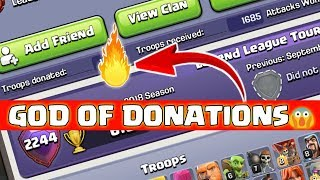 GOD OF TROOP DONATION IN COC, CLASH OF CLANS INDIA
