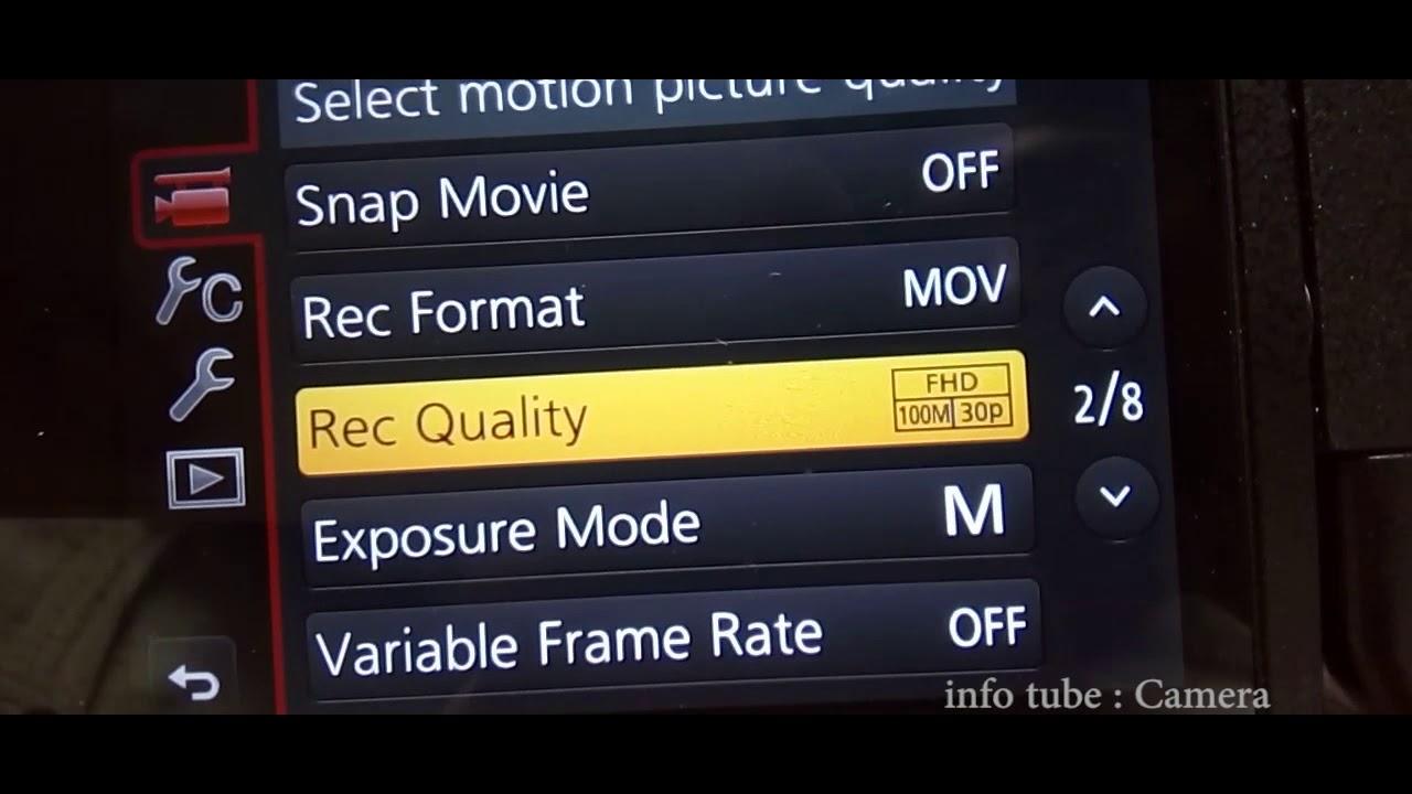 LUMIX FZ2500 VARIABLE FRAME RATE SETTING - YouTube