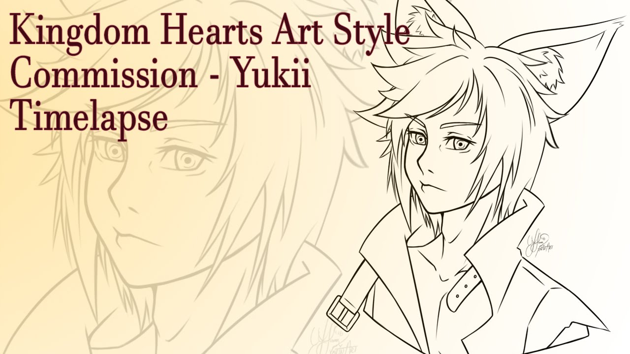 Timelapse Kingdom Hearts Art Style Commission Sketch 3 Youtube