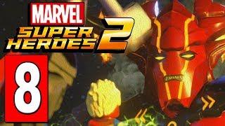 LEGO Marvel Super Heroes 2 Walkthrough Part 8 SURTUR BOSS BATTLE / ASGARD