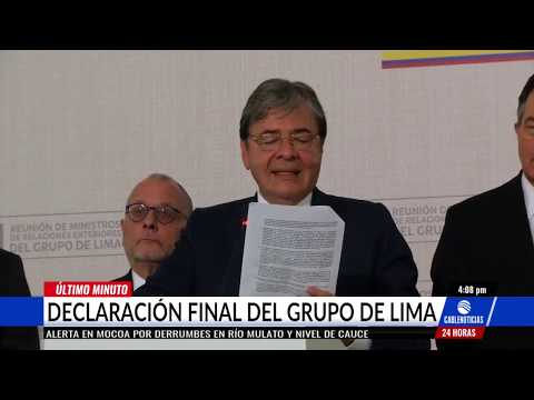 Grupo de Lima pide a CPI revisar la situación humanitaria de Venezuela
