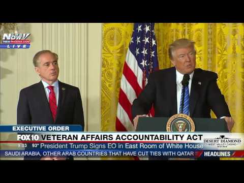 WATCH: President Trump Gives Speech and Signs Veteran Affairs Accountability Act at White House