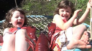 Pretend LOBSTER surprise | Family FUN Kids Playing Outside | The Disney Toy Collector