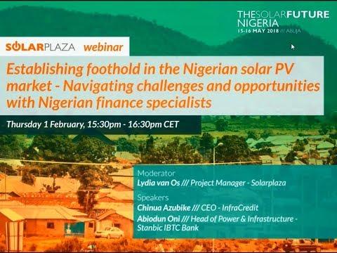 Solarplaza Webinar: Establishing foothold in the Nigerian solar PV market