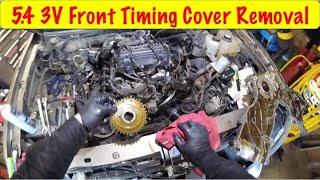 Ford 5.4 3V Cam Phaser DIY Timing Cover Removal
