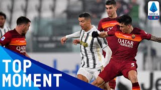 Cristiano ronaldo scored his 23rd goal of the season as juventus beat roma to move ahead them in pursuit serie a leaders inter   timthis is...