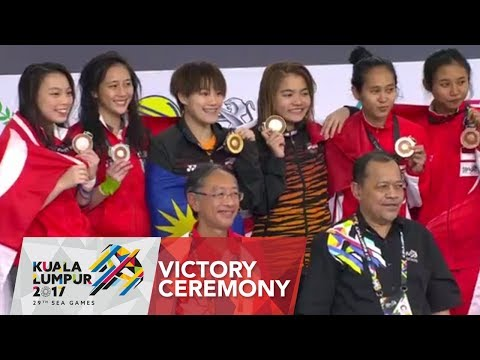 Diving Women's Synchronised 3m Victory Ceremony | 29th SEA Games 2017