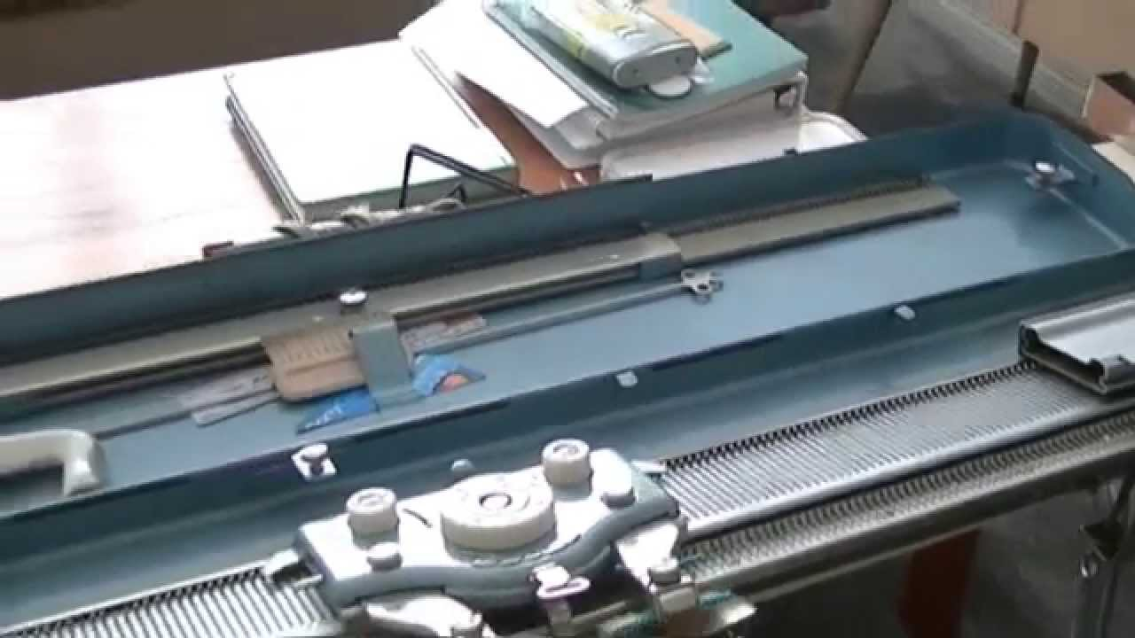 How to use your vintage Brother Knit Knitting Machine Part I ...