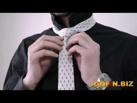 Как завязать галстук, видео как завязывать галстук.