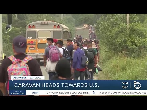 Migrant caravan departs for U.S., clash with Central American forces
