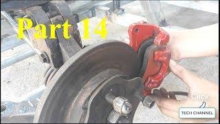 Homemade Lamborghini car part 14 - (4-wheel oil brake system)