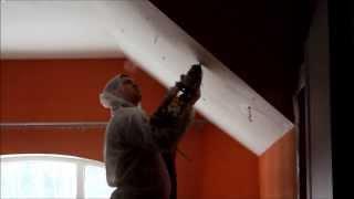 Утепление крыши через отверстия, минвата так не может(Что делать если ремонт уже сделан, а жена от холода кутается в плед и смотрит волком. Правильно - на помощь..., 2013-12-23T11:48:04.000Z)