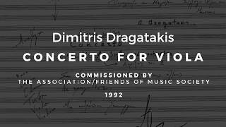 Dimitris Dragatakis: Concerto for Viola (1993 premiere performance)