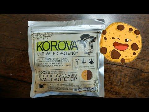 Korova peanut butter chocolate dipped cookie