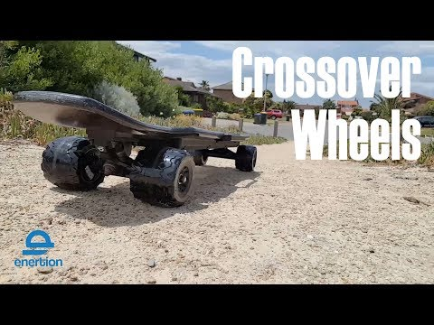 Raptor 2 Electric Skateboard | Crossover wheels - Installation & Off Road Test