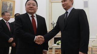 ПУТИН благодарит президента Монголии за визит в Москву! Новости политика сегодня 2015 mp4