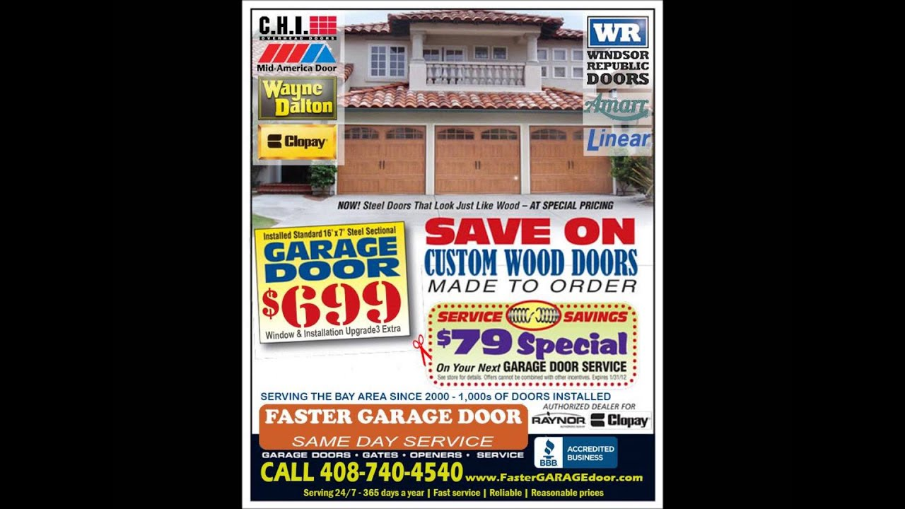 $29 San Rafael Garage Door Repair Ca 415 200 0019