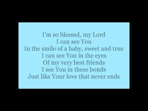 I See You, Lord - Instrumental with Lyrics
