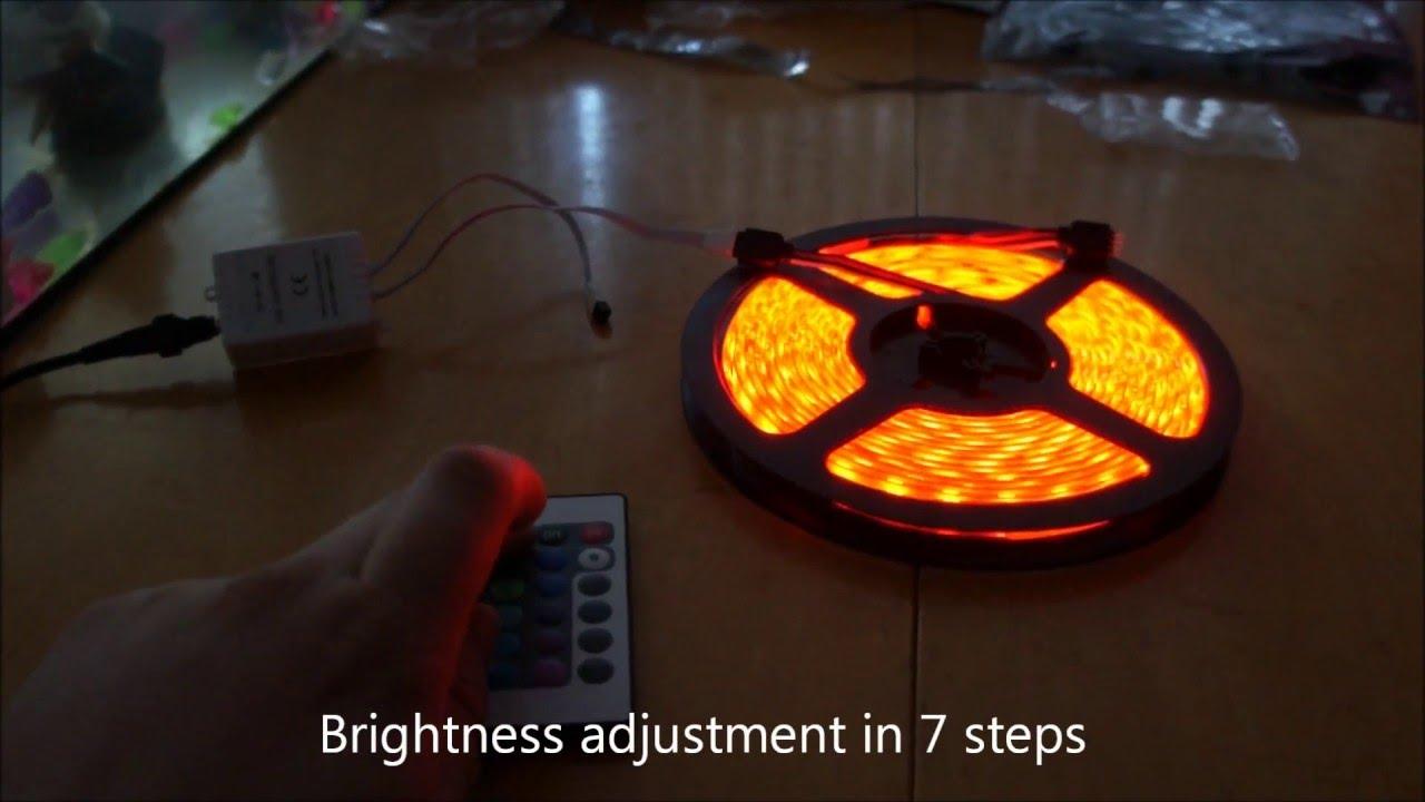 LED Strip Bedroom lighting - YouTube