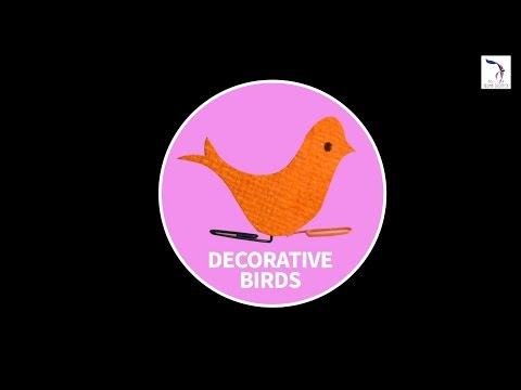 DIY : Decorative Birds | Paper Birds | Children Art & Craft
