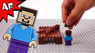 Lego Minecraft Brick Building How to Build a House with Steve