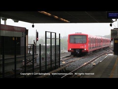 HKL / HST Metro trains at Kalasatama / Fiskehamnen, Helsinki, Finland