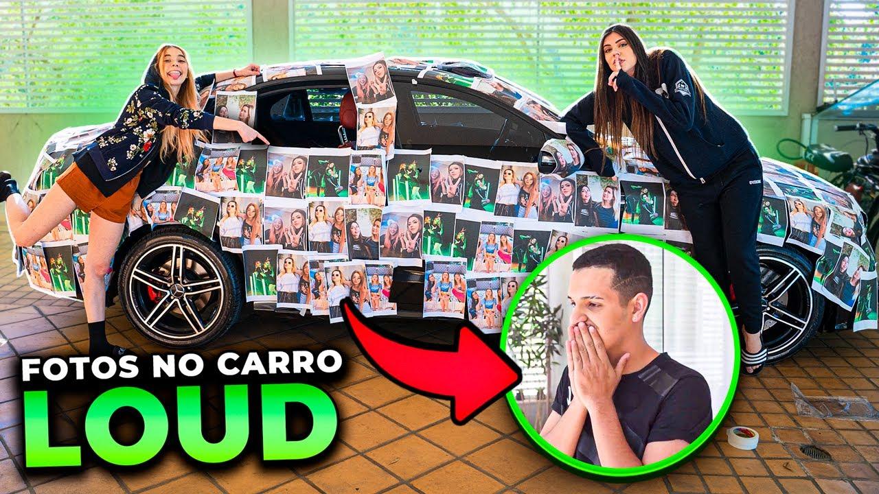 DECORAMOS O CARRO DELE COM FOTOS NOSSAS NA LOUD!!