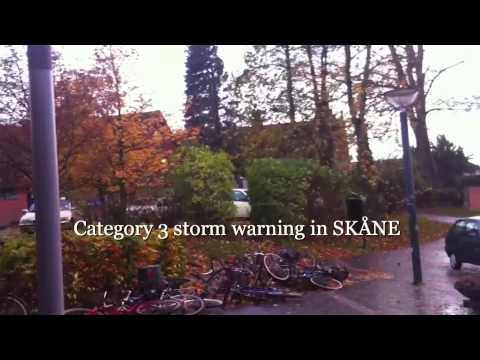 Category 3 storm warning in SKÅNE