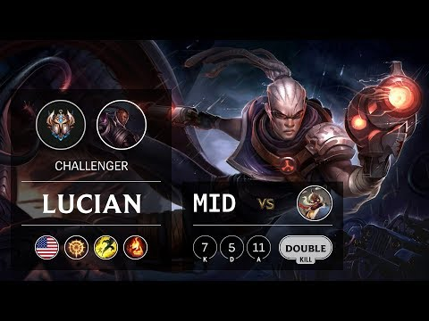 Lucian Mid vs Corki - NA Challenger Patch 9.15
