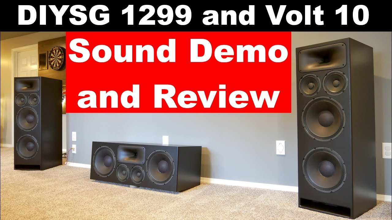 sound demo and review diy sound group 1299 and volt 10 custom homesound demo and review diy sound group 1299 and volt 10 custom home theater speakers