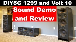 Sound Demo and Review | DIY Sound Group 1299 and Volt 10 Custom Home Theater Speakers