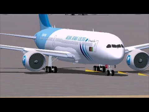 FSX Ariana Afghan Boeing 787 Delhi to Kabul
